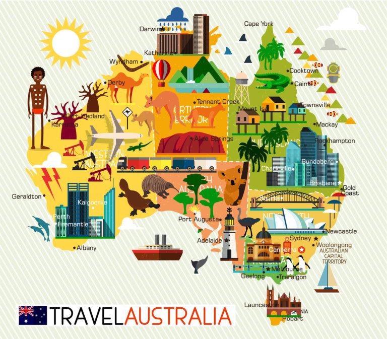 澳洲各地特色景點與象徵